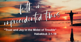 """""""Trust and Joy in the Midst of Trouble"""" (trad.)"""